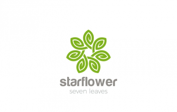 徽标星花环状无限logo设计