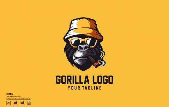 极客大猩猩标志设计