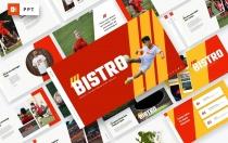Bistro-足球和足球PowerPoint模板