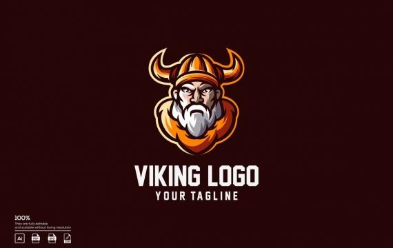 北欧海盗标志设计