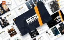 骑自行车的人-摩托车和自行车PowerPoint模板