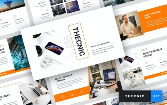 Thecnic-技术主题演讲模板Keynote模板下载