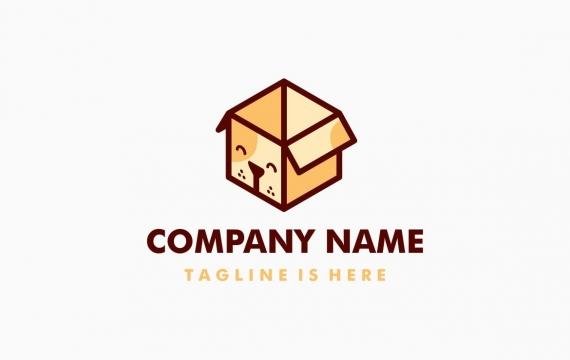 狗框徽标logo设计