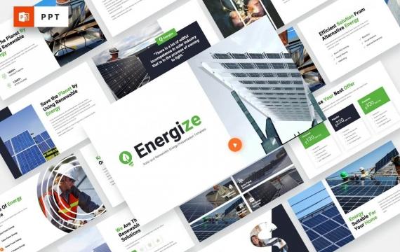 能源-太阳能PowerPoint模板