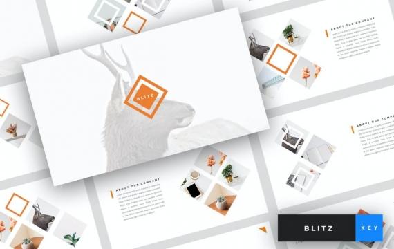 Blitz-创意主题演讲模板Keynote模板下载