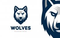 狼徽标logo设计