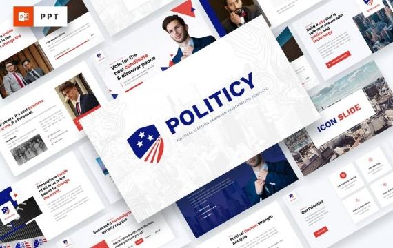 政治-政治选举PowerPoint模板