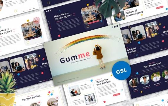 Gumme-创意Googleslide模板