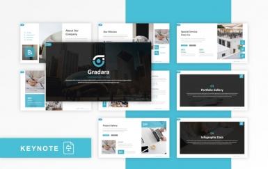 Gradara-青色Google幻灯片创意模板