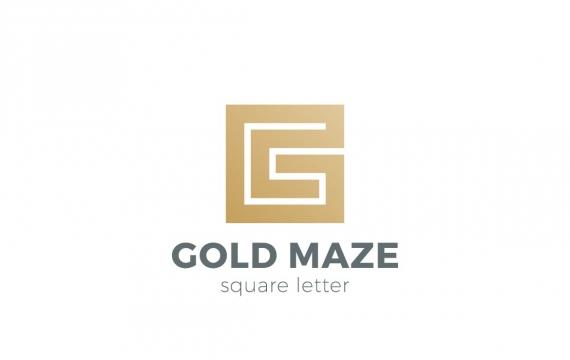 徽标迷宫迷宫作为字母G logo设计