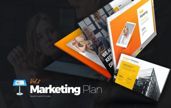 Marketing Plan Vol 2主题演讲模板Keynote模板下载