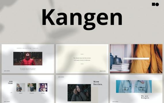 Kangen-主题演讲简约大气Keynote模板下载