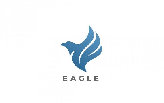鹰徽标豪华抽象logo设计