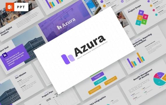 AZURA-项目管理PowerPoint模板