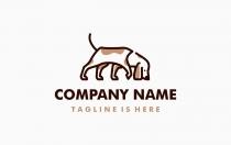 狗的logo标志模板
