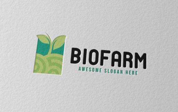 生物农场徽标logo