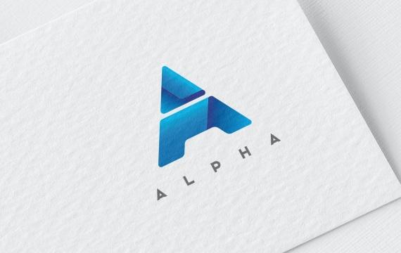 字母A徽标模板logo设计