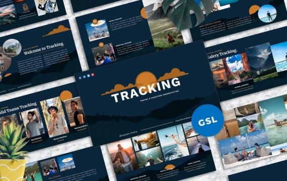 跟踪-Travel Googleslide模板