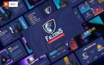 Falcons-电子竞技和游戏PowerPoint模板