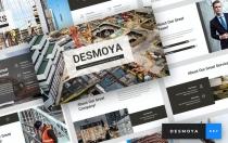 Desmoya-施工主题演讲模板Keynote模板下载