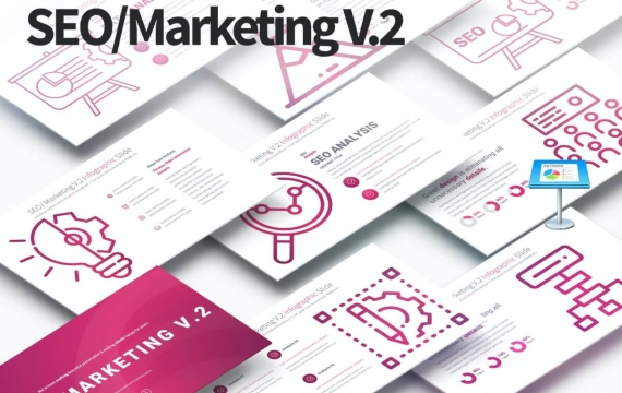 SEO / Marketing V.2-主题图表幻灯片Keynote模板下载