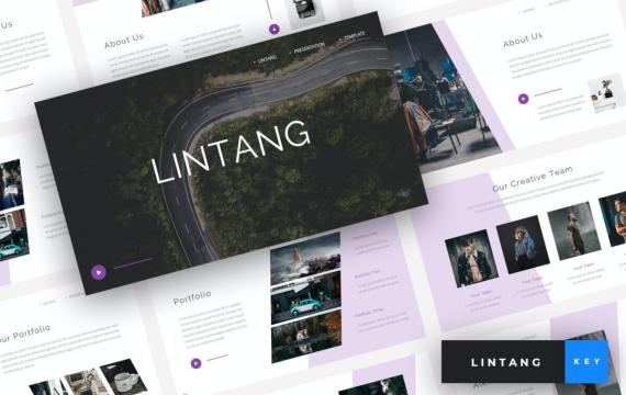 Lintang-创意主题演讲模板Keynote模板下载