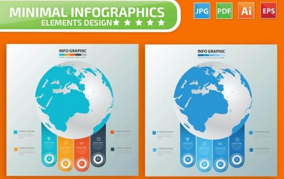 全球信息图表元素设计