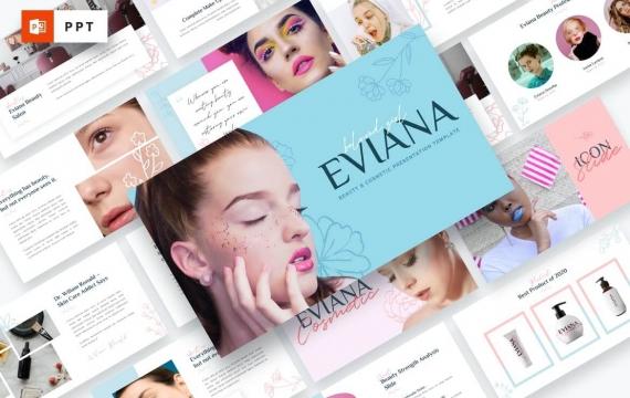 Eviana-美容和化妆品PowerPoint模板