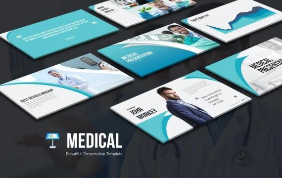 医疗主题演讲模板Keynote模板下载