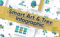 智能艺术和树图PowerPoint模板