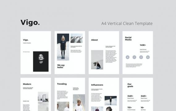 VIGO-A4垂直Google幻灯片模板