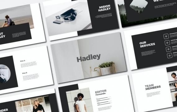 Hadley-PowerPoint模板