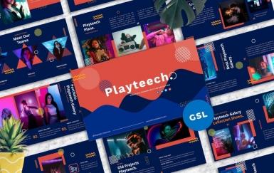Playteech-创意Googleslide模板