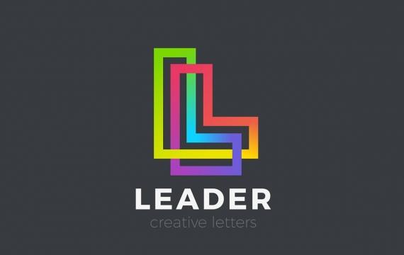 字母L标志设计线性无限LOGO