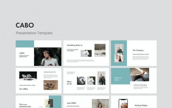 CABO-Google幻灯片时尚简约模板