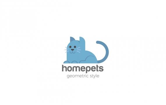 猫徽标家庭宠物logo