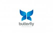 徽标蝴蝶翅膀logo设计