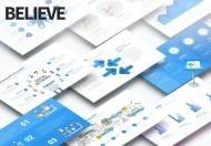 相信-多功能主题演讲蓝色Keynote模板下载
