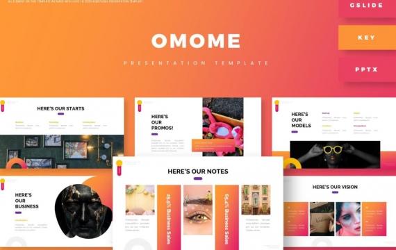 Omome-演示Googleslide模板