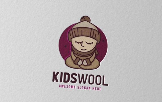 儿童羊毛徽标logo下载