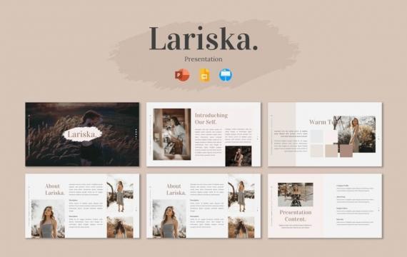 Lariska-演示Googleslide模板