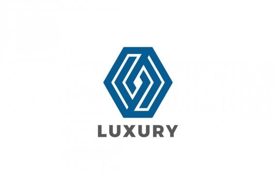 Logo六角菱形奢华珠宝公司