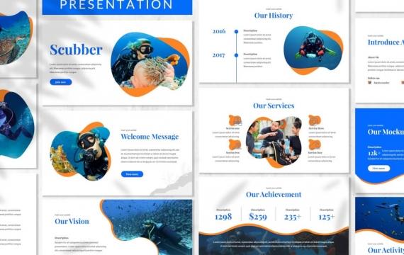 Scubber-海洋演示模板Google幻灯片模板
