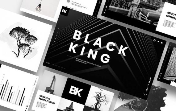 黑王-最小创意PowerPoint模板