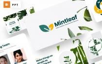Mintleaf-最小的绿色PowerPoint模板