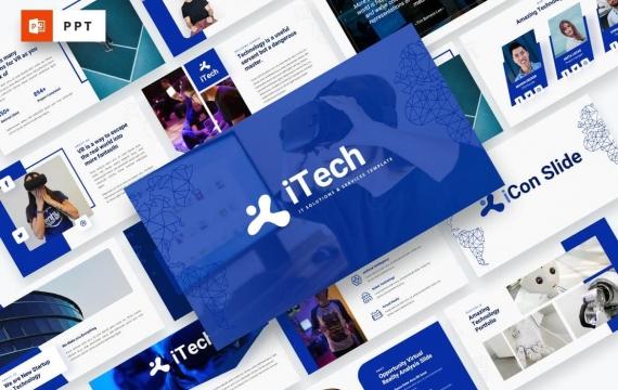 iTech-IT解决方案服务Powerpoint模板