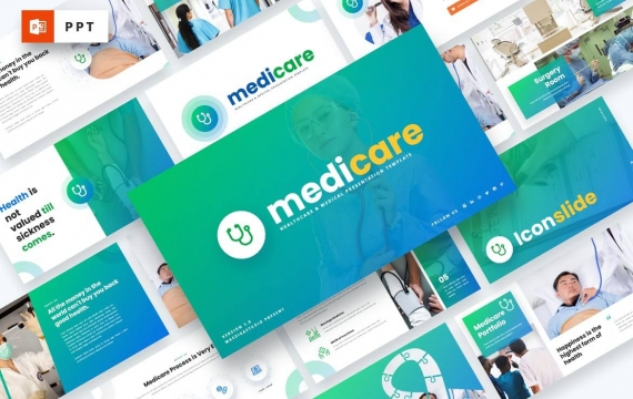 Medicare-医疗保健PowerPoint模板