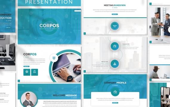 Corpos-业务演示模板Googleslide模板