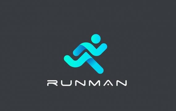 徽标跑步者交付运动会徽logo