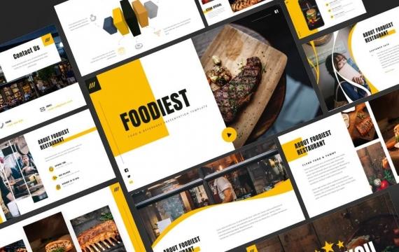 美食-食品和饮料PowerPoint模板